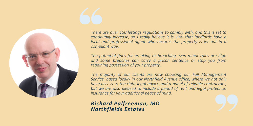 Full management service at Northfields Estates